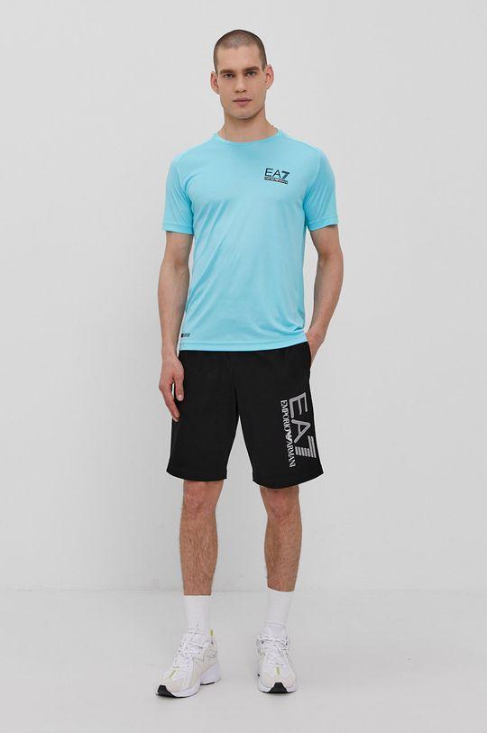EA7 Emporio Armani - T-shirt niebieski