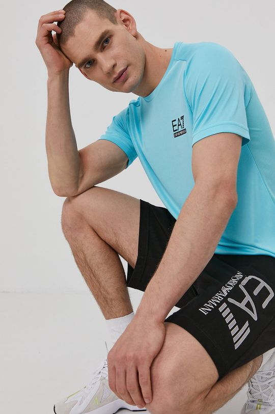 niebieski EA7 Emporio Armani - T-shirt
