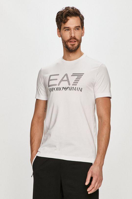 alb EA7 Emporio Armani - Tricou