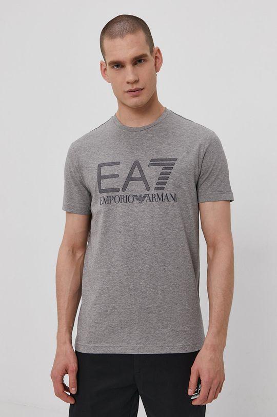 sivá EA7 Emporio Armani - Tričko Pánsky