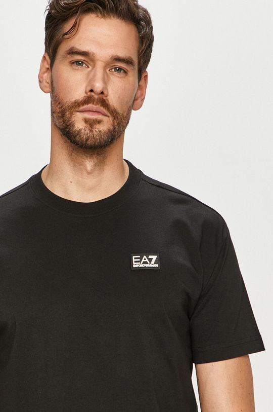 čierna EA7 Emporio Armani - Tričko Pánsky