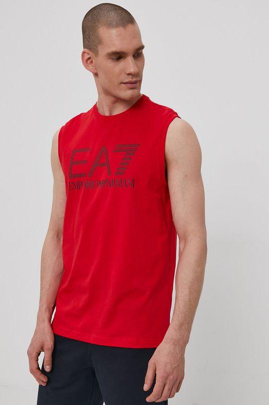 červená EA7 Emporio Armani - Tričko Pánsky