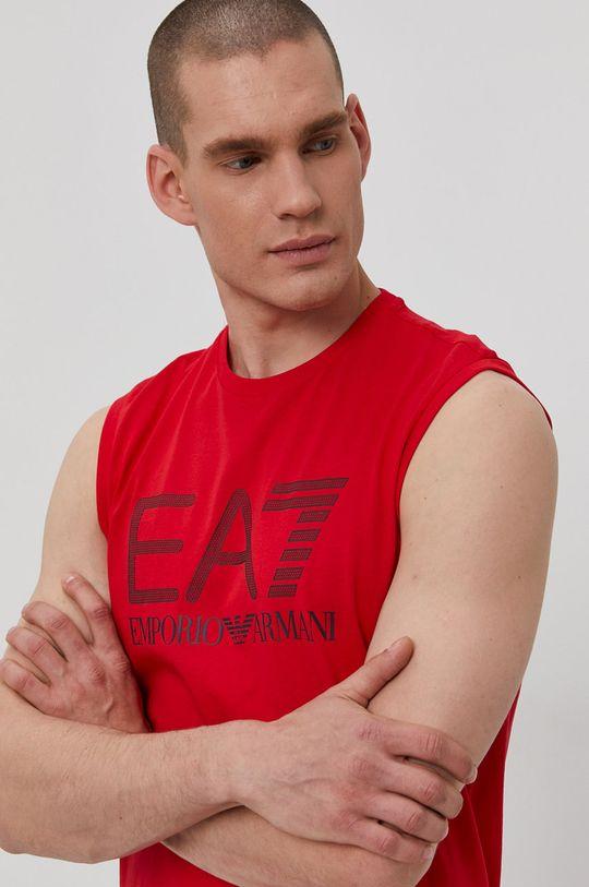 červená EA7 Emporio Armani - Tričko