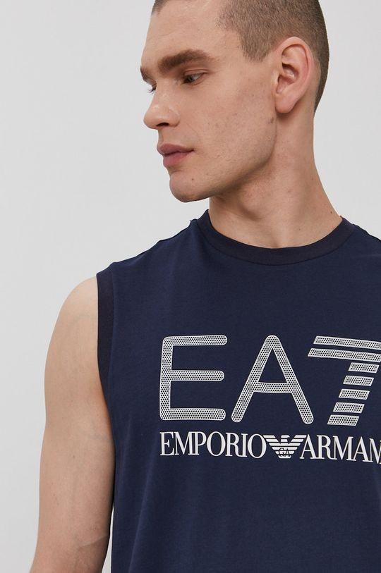 granatowy EA7 Emporio Armani - T-shirt
