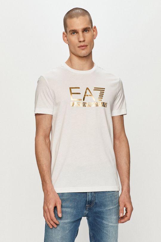 bílá EA7 Emporio Armani - Tričko Pánský