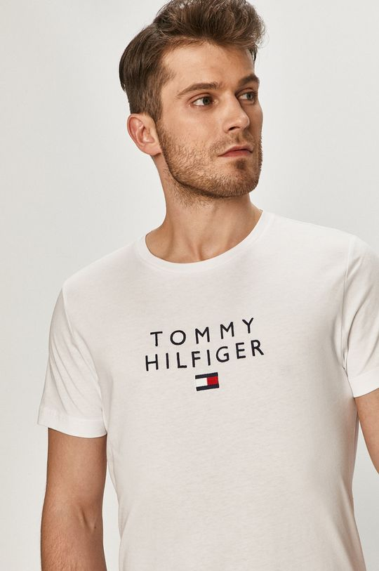 bílá Tommy Hilfiger - Tričko Pánský
