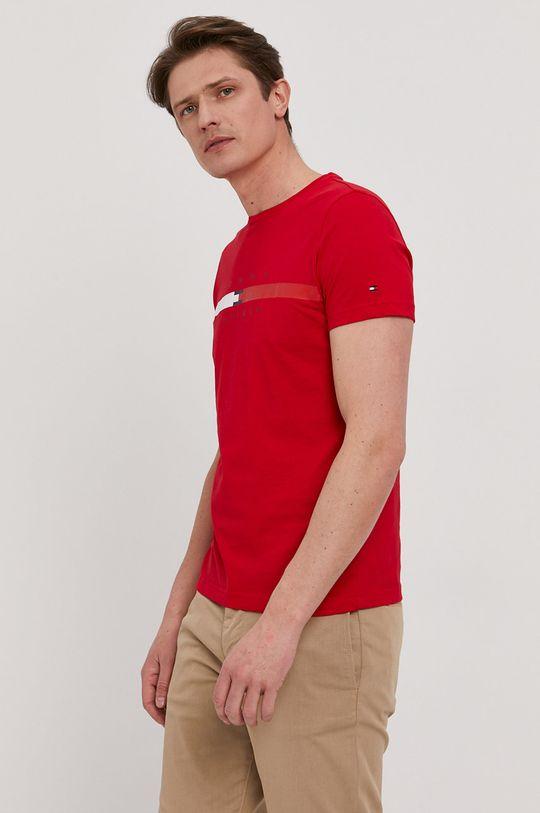 červená Tommy Hilfiger - Tričko Pánský