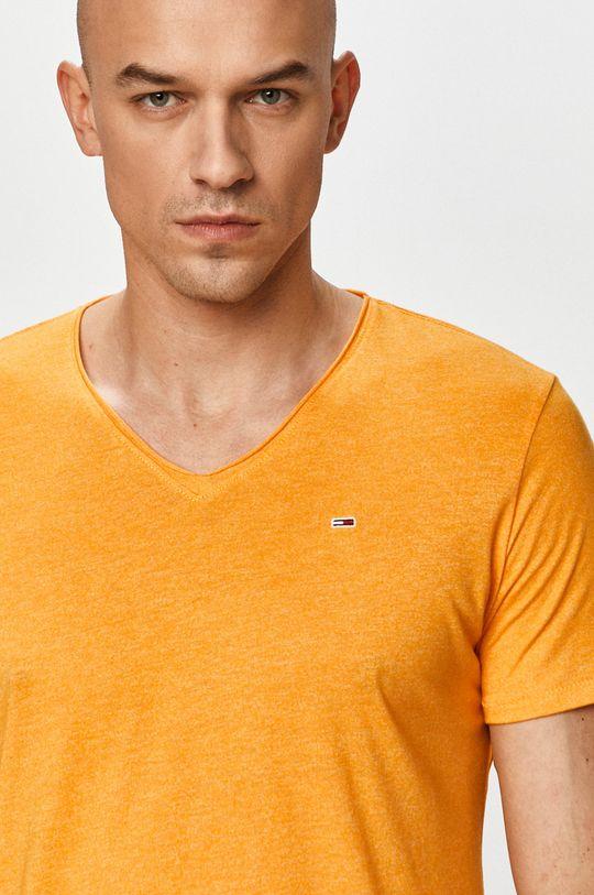 pomarańczowy Tommy Jeans - T-shirt Męski