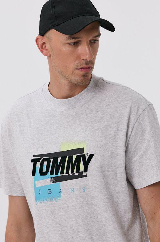 světle šedá Tommy Jeans - Tričko Pánský