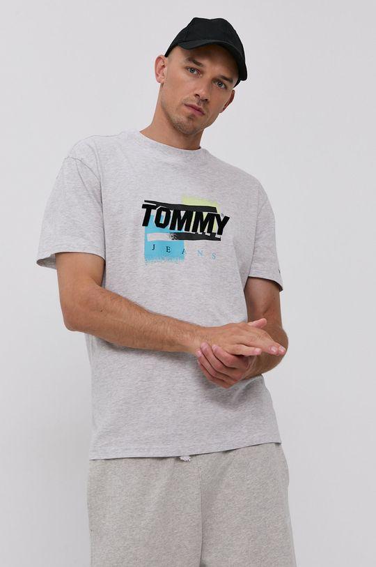 světle šedá Tommy Jeans - Tričko