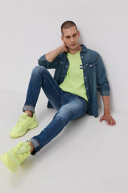 Tommy Jeans - Tričko žlutě zelená