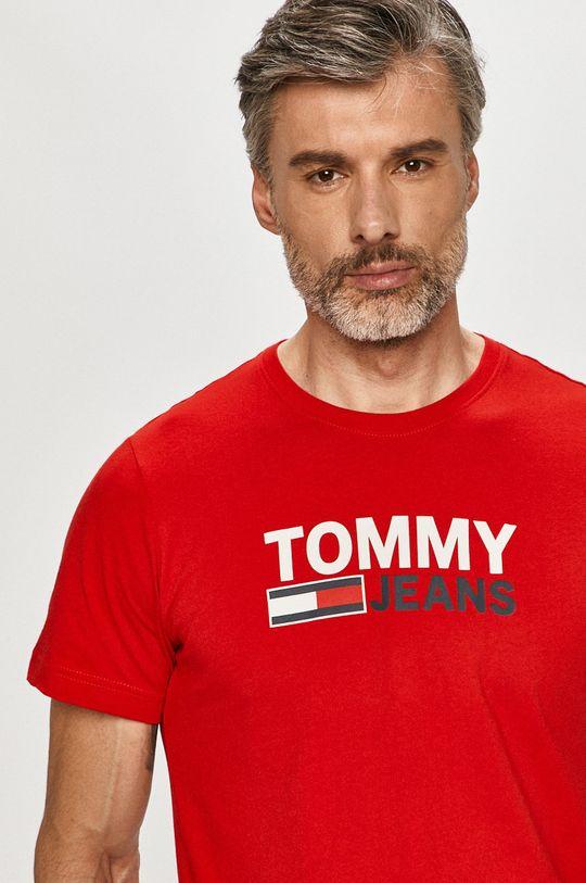 červená Tommy Jeans - Tričko