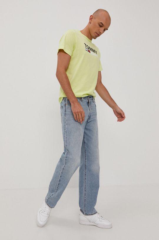 Tommy Jeans - Tričko žlto-zelená