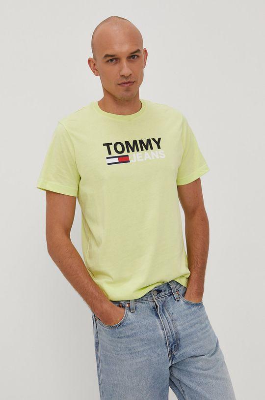 žlto-zelená Tommy Jeans - Tričko