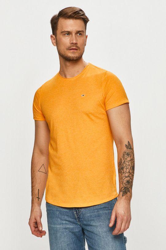 oranžová Tommy Jeans - Tričko Pánsky