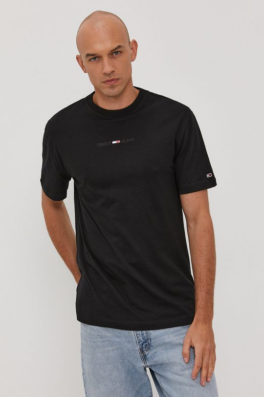 czarny Tommy Jeans - T-shirt Męski