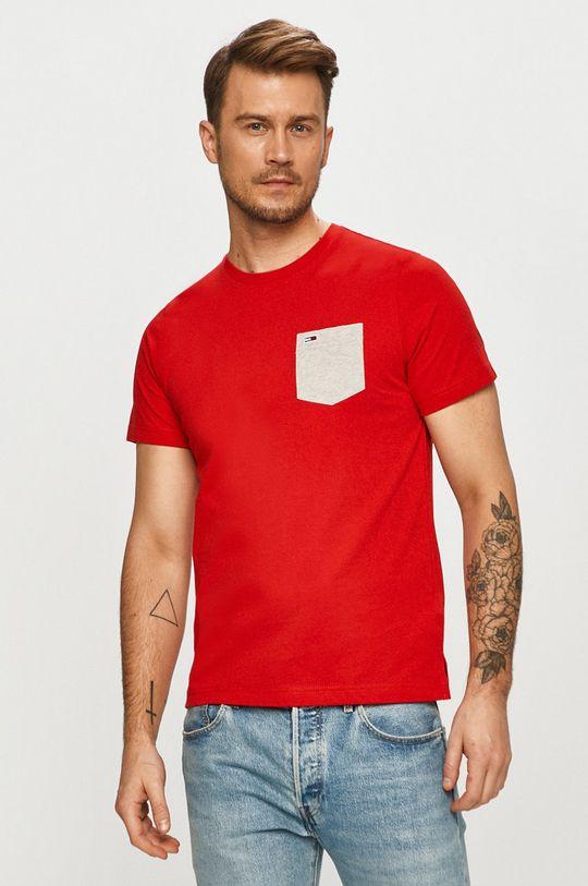 červená Tommy Jeans - Tričko Pánský