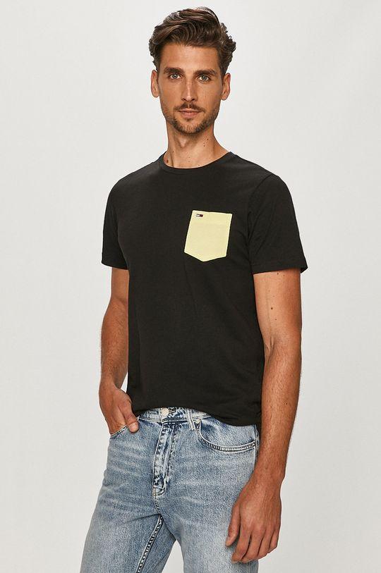 čierna Tommy Jeans - Tričko Pánsky