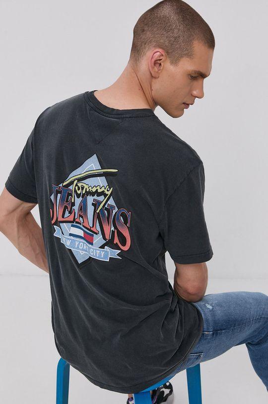 černá Tommy Jeans - Tričko Pánský