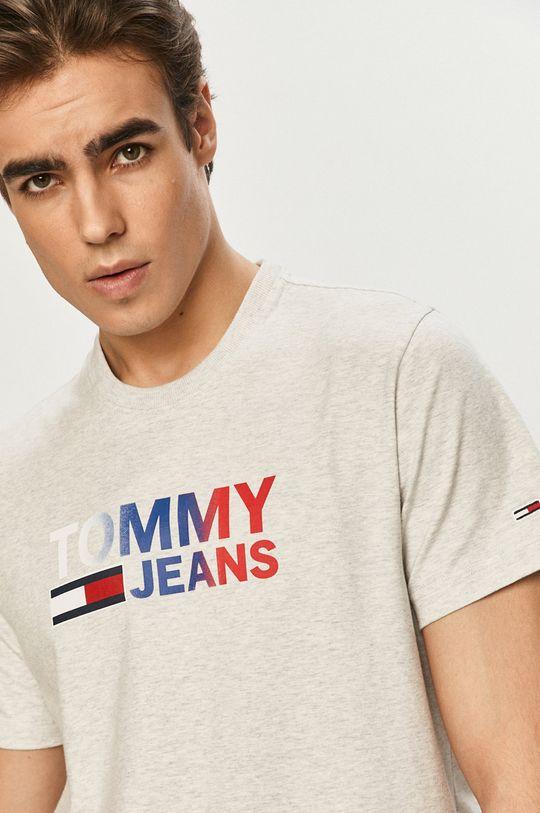 svetlosivá Tommy Jeans - Tričko Pánsky