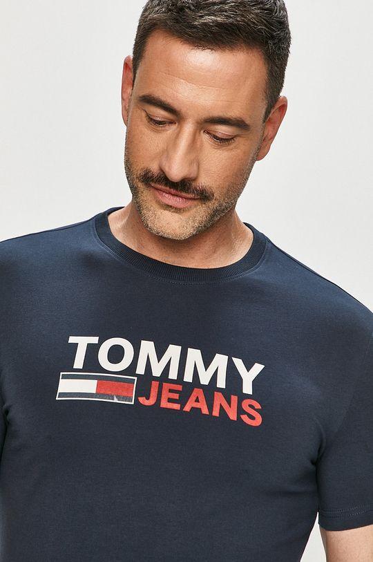 námořnická modř Tommy Jeans - Tričko Pánský
