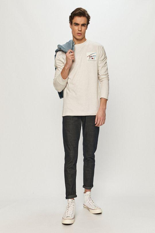 Tommy Jeans - Tričko s dlhým rukávom béžová