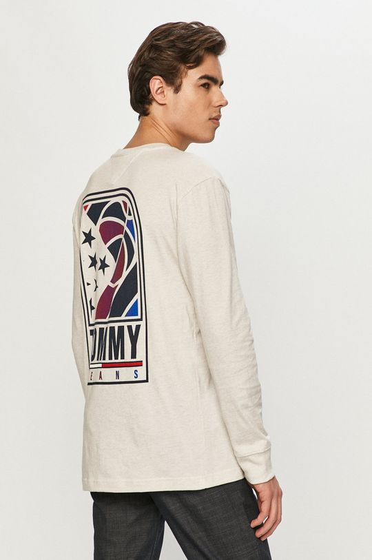 Tommy Jeans - Tričko s dlhým rukávom  100% Organická bavlna