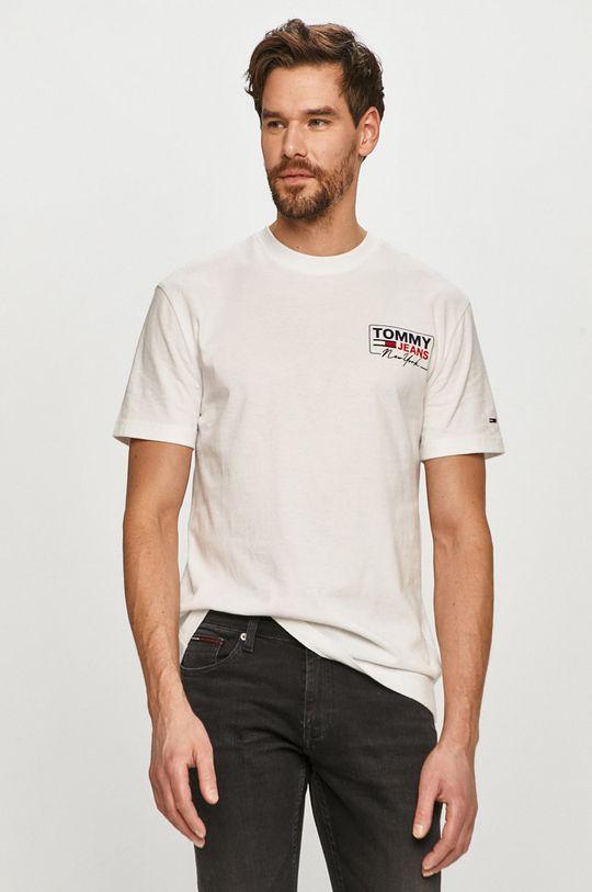 alb Tommy Jeans - Tricou De bărbați