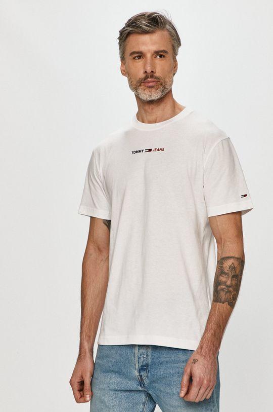 bílá Tommy Jeans - Tričko Pánský