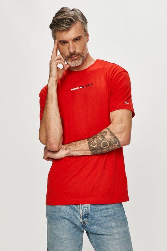czerwony Tommy Jeans - T-shirt Męski