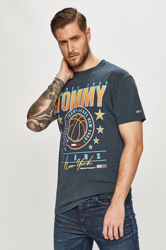 tmavomodrá Tommy Jeans - Tričko Pánsky