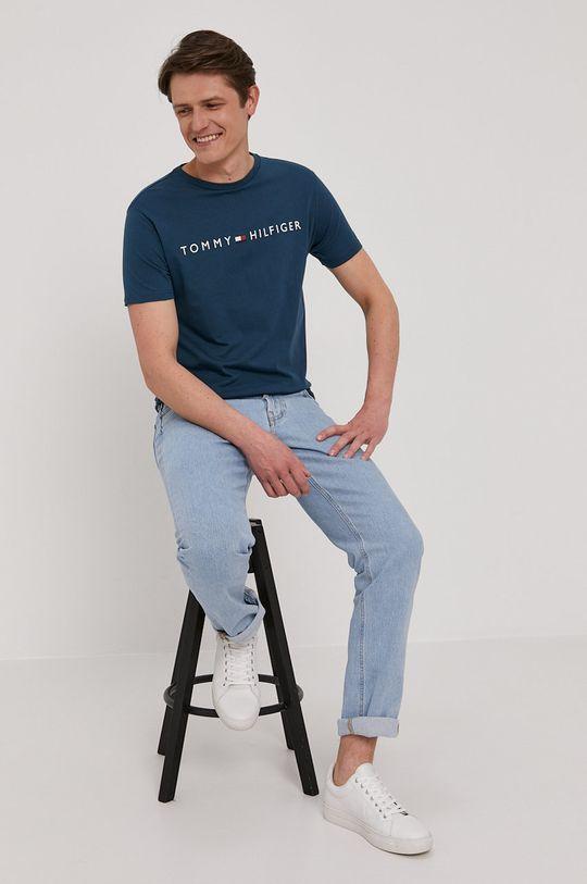 modrá Tommy Hilfiger - Tričko Pánsky