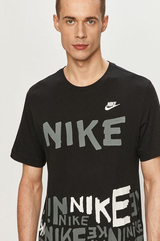 čierna Nike Sportswear - Tričko Pánsky