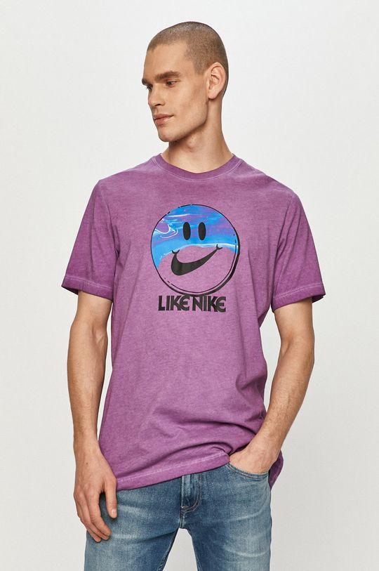 purpurový Nike Sportswear - Tričko Pánsky