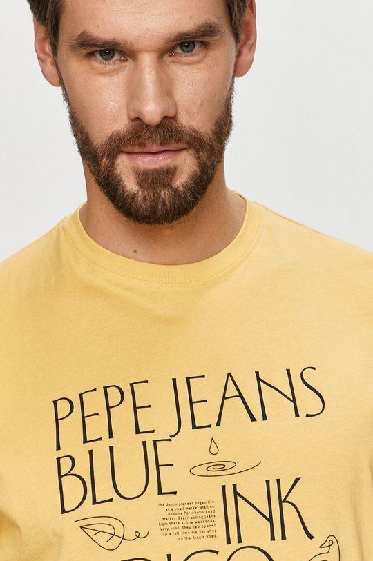 žlutá Pepe Jeans - Tričko Saul