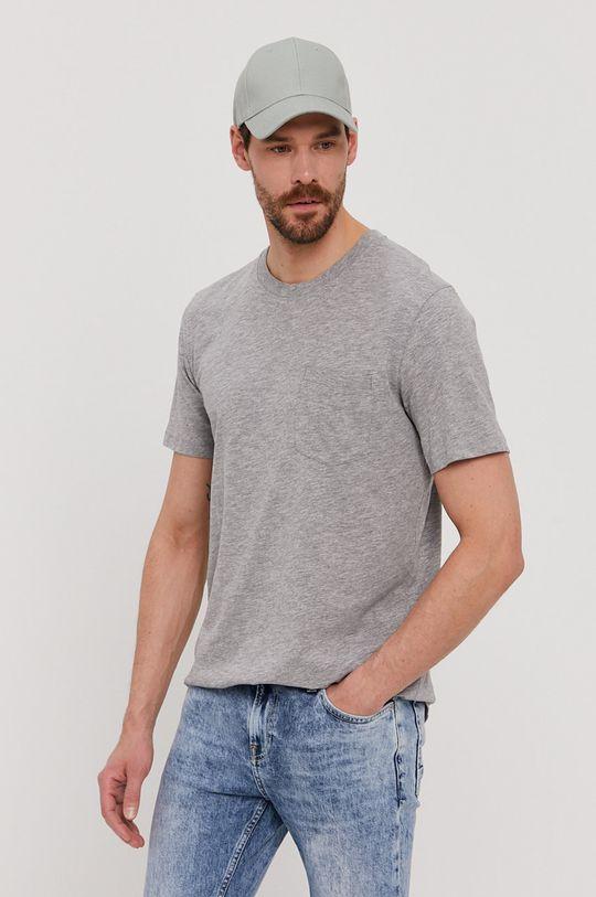 jasny szary Selected - T-shirt Męski