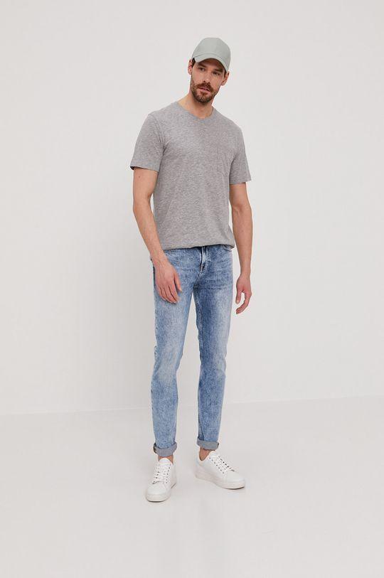 Selected - T-shirt jasny szary