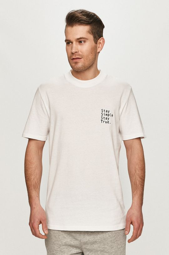 biały Selected - T-shirt Męski