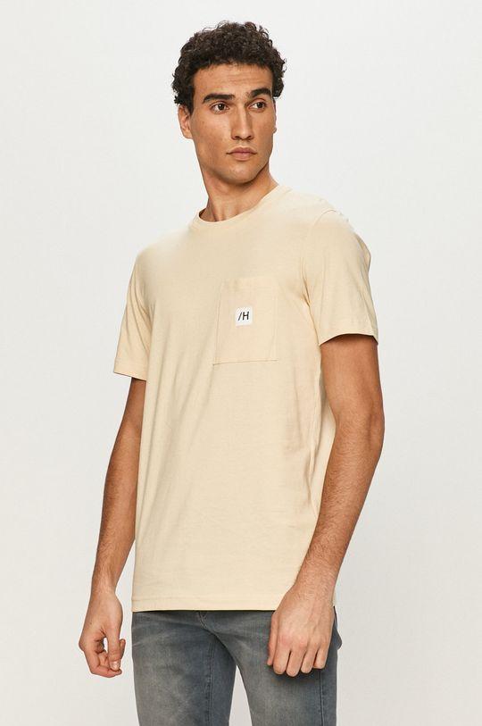 piaskowy Selected - T-shirt Męski
