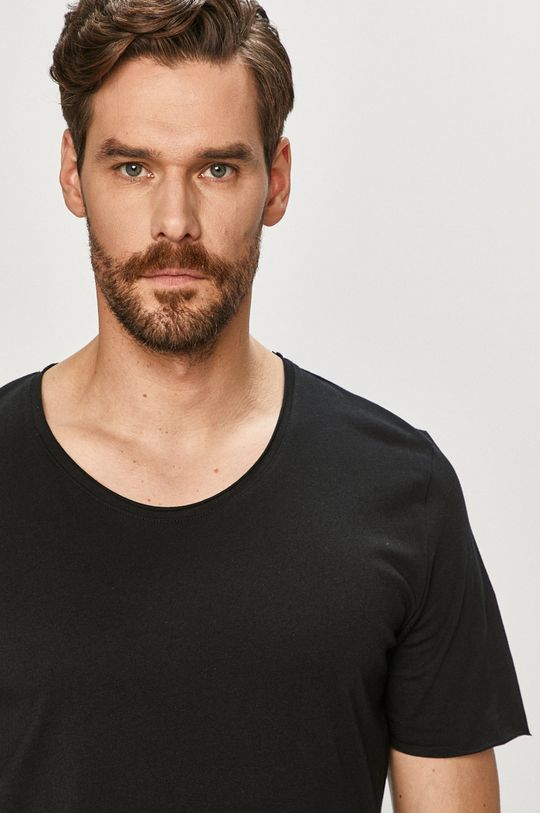 Selected - T-shirt czarny