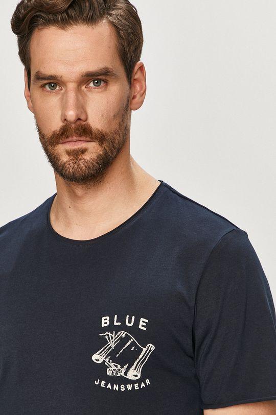 granatowy Selected - T-shirt Męski