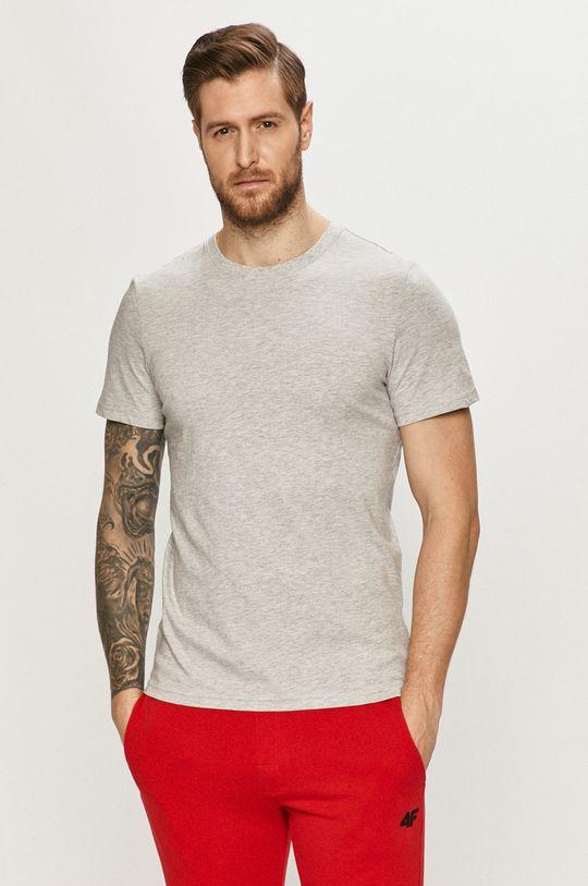 gri deschis 4F - Tricou De bărbați
