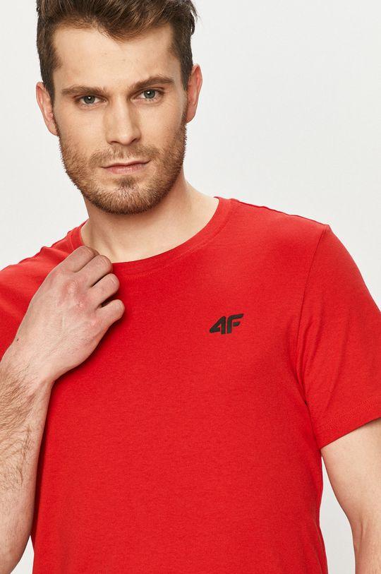 czerwony 4F - T-shirt