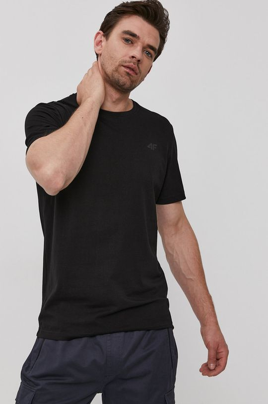 černá 4F - Tričko Pánský