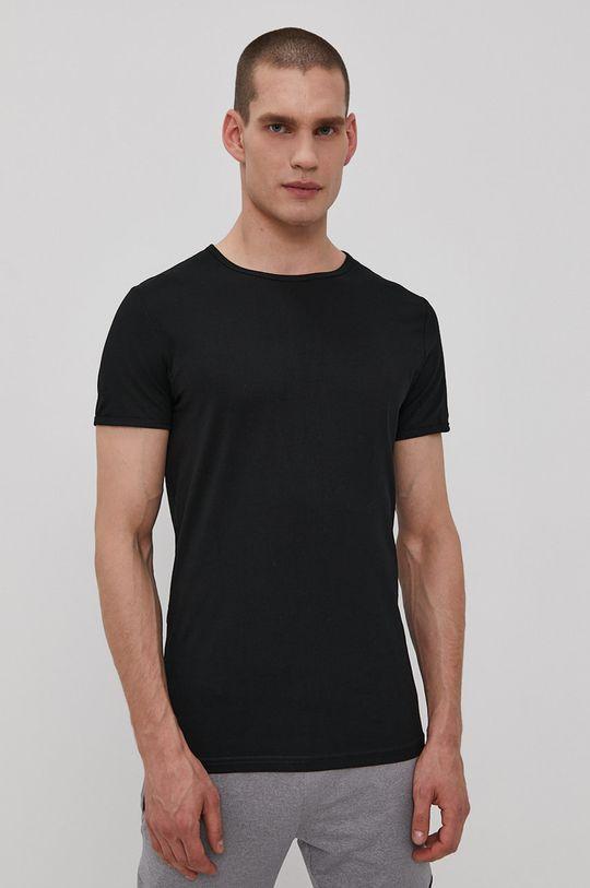 černá 4F - Tričko (2-PACK) Pánský