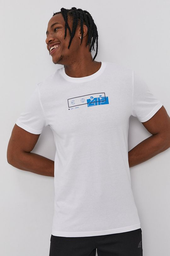 bílá 4F - Tričko Pánský