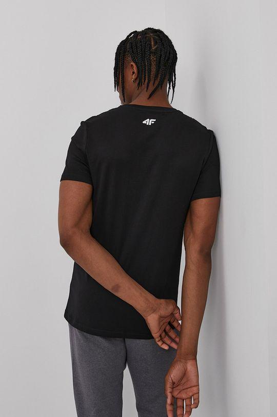 4F - T-shirt czarny