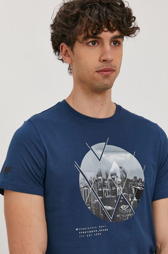 stalowy niebieski 4F - T-shirt Męski