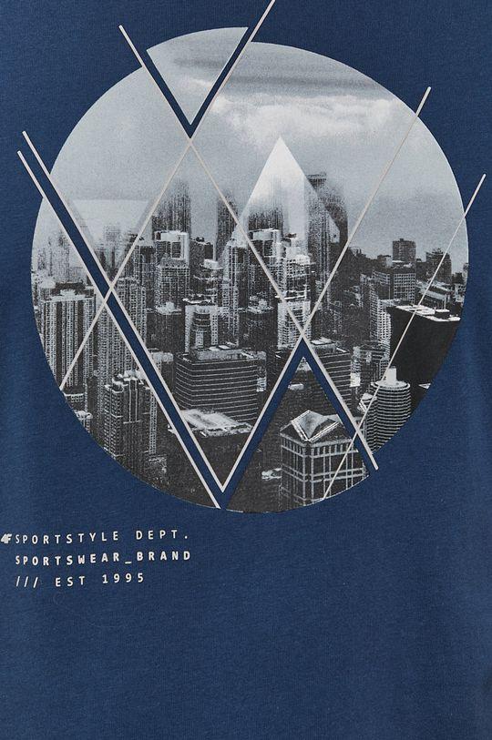 stalowy niebieski 4F - T-shirt