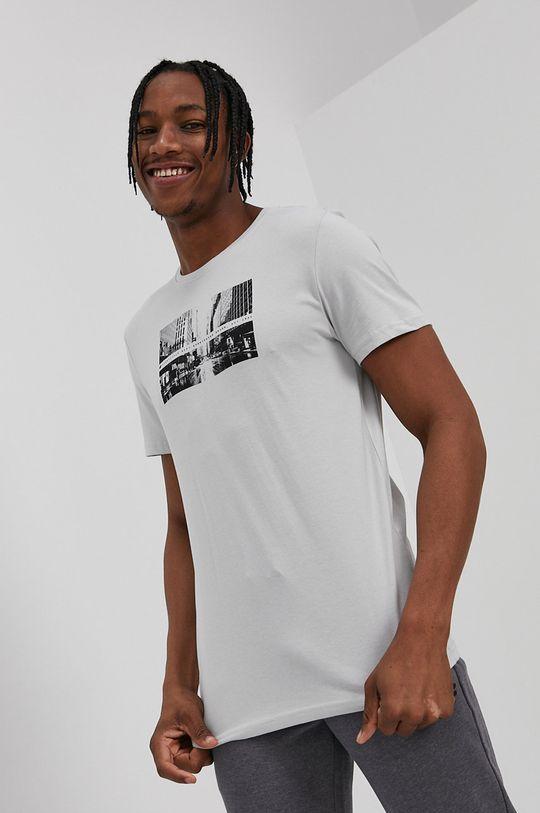 jasny szary 4F - T-shirt Męski